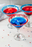 Cocktails for July, 4 Stock Image