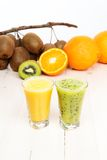 Cocktails from kiwi and orange Stock Image
