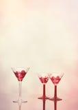 Cocktails à la barre Images libres de droits