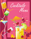 Cocktails menu Stock Image
