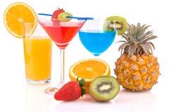 Cocktails met vruchten Royalty-vrije Stock Foto's