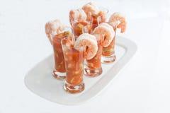 Cocktails mexicains de crevette rose Image libre de droits