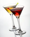 Cocktails mit Olive Lizenzfreies Stockbild