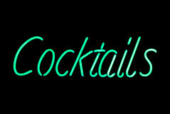 Cocktails Neon Sign Royalty Free Stock Images