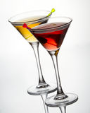 Cocktails with olive Royalty Free Stock Image