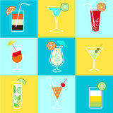 Cocktails Party Icons Set Stock Photography