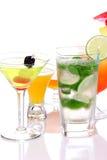 Cocktails populaires avec l'alcoho Images libres de droits