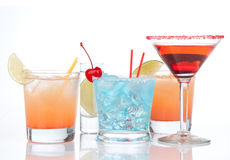 Cocktails red alcohol cosmopolitan cocktailini cocktails glass a Royalty Free Stock Photos
