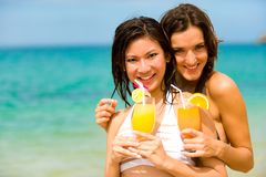 Cocktails By Sea Royalty Free Stock Image