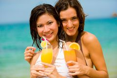 Cocktails By Sea Stock Photography