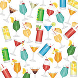 Cocktails seamless pattern Royalty Free Stock Image