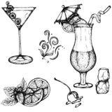 Cocktails vector illustration