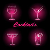 Cocktails set Stock Photography