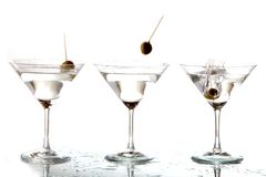 Cocktails Splash Royalty Free Stock Images