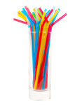 Cocktails straw in glass Royalty Free Stock Image