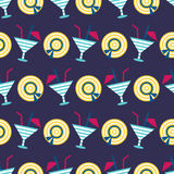 Cocktails summer seamless pattern Stock Photo
