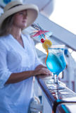 Cocktails during summer travel Stock Photos