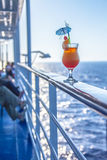 Cocktails during the travel by sea Royalty Free Stock Images