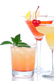 Cocktails tropical Martini alcohol Stock Images