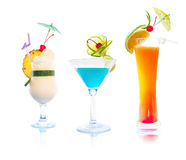 Cocktails - Tropical Set Royalty Free Stock Photography