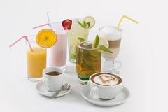 Cocktails und coffe Stockfoto