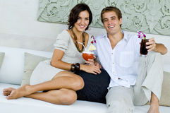 Cocktails on vacation Stock Images