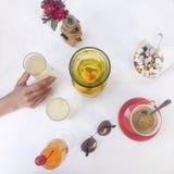Cocktails van het ochtend de smakelijke voedsel Stock Fotografie