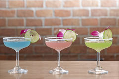 Cocktails. Variety of cocktails at the bar Royalty Free Stock Images