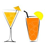 Cocktails vector illustration Stock Photo