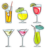 Cocktails vector illustration Stock Photography