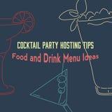 Cocktails vectorillustratie Stock Fotografie