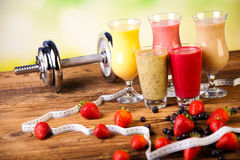 Cocktails With Fresh Fruits, Vitamin And Fitness Royalty Free Stock Images