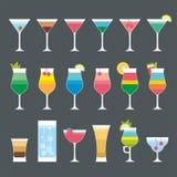 Cocktailsatz Stockbild