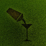 Cocktailsilhouet Stock Afbeelding