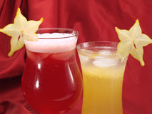 Cocktailsinzameling - Carambola-Cocktail Royalty-vrije Stock Fotografie