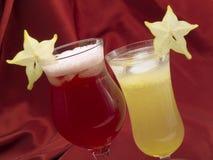Cocktailsinzameling - de Cocktail van Starfruit en Carambola- Stock Afbeelding