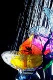 Cocktailskunst met water royalty-vrije stock afbeelding