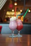 Cocktailsmilkshake Royalty-vrije Stock Afbeeldingen