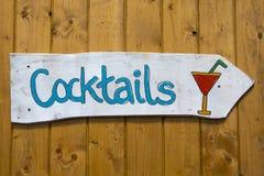 Cocktailzeichen lizenzfreies stockbild