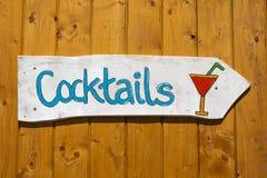Cocktailzeichen stockbild