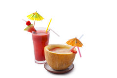 Cocktals. Exotic cocktails isolated on white background Stock Photo