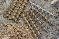 Coclee di perforazione dopo il trapano 2 della sporcizia Fotografie Stock Libere da Diritti
