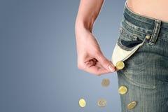 Cocnept de la crisis financiera. Fotografía de archivo libre de regalías