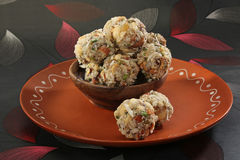 Cocnut ladoo. Indian sweets dryfruit and cocnut ladoo Royalty Free Stock Image