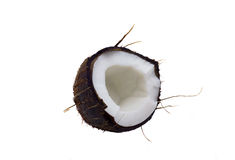 Coco. Broken coco isolated on a white background Stock Image