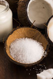 Coco bath. coconut with sea salt Stock Photos