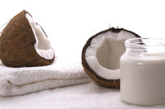 Coco bath items Royalty Free Stock Photography