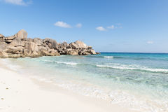 Coco beach in Seychelles Stock Photography