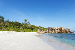 Coco beach in seychelles. Island Stock Image
