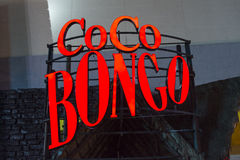 Coco Bongo neon sign in Cancun Royalty Free Stock Images